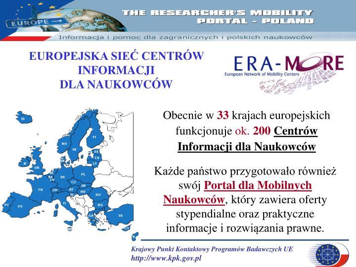 EUROPEJSKA SIEĆ CENTRÓW INFORMACJI