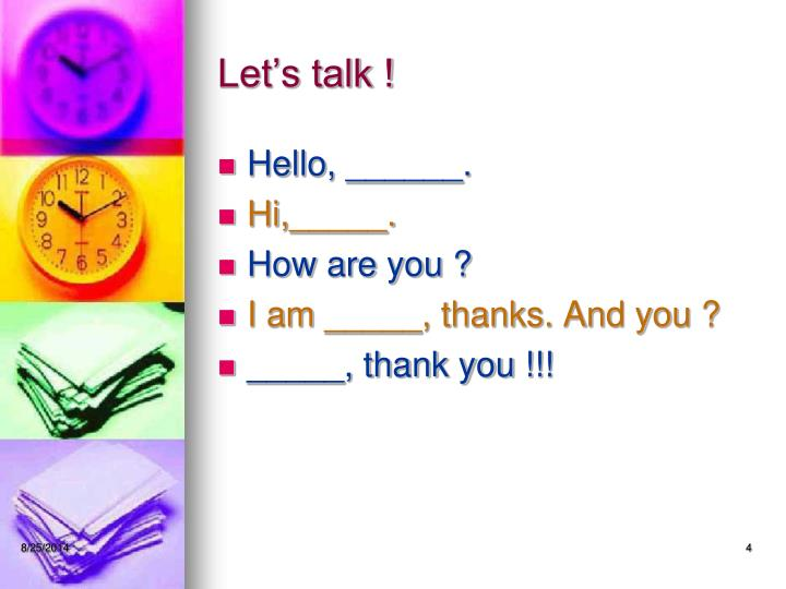 Let's talk !