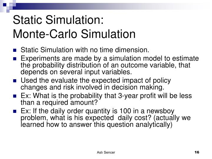 Static Simulation: