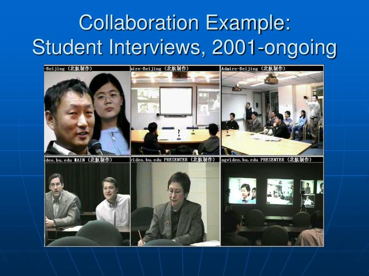 Collaboration Example: