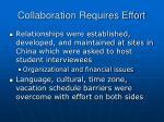collaboration requires effort