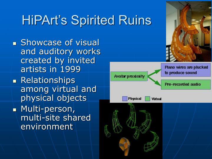 HiPArt's Spirited Ruins