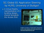 sc global 03 application steering by hlrs university of stuttgart