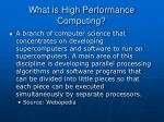 what is high performance computing