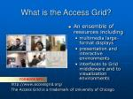 what is the access grid