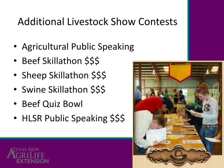 Additional Livestock Show Contests