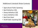 additional livestock show contests