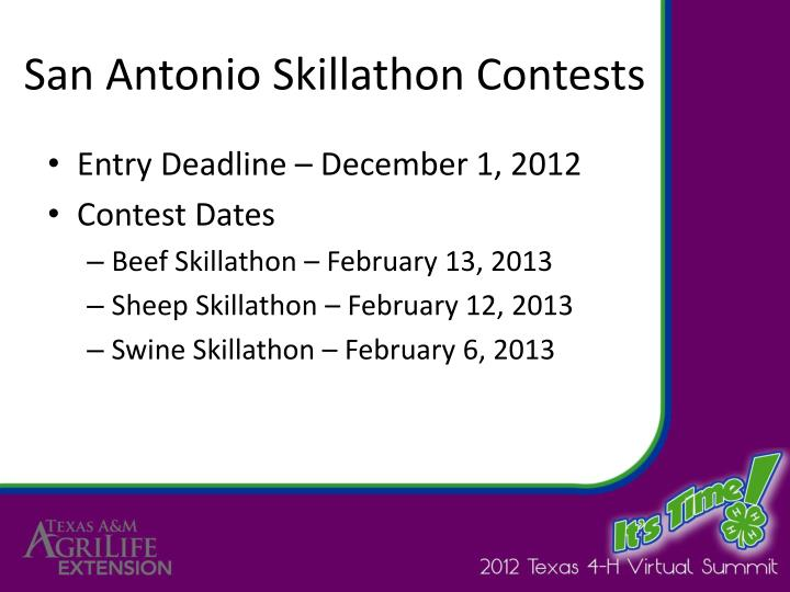 San Antonio Skillathon Contests