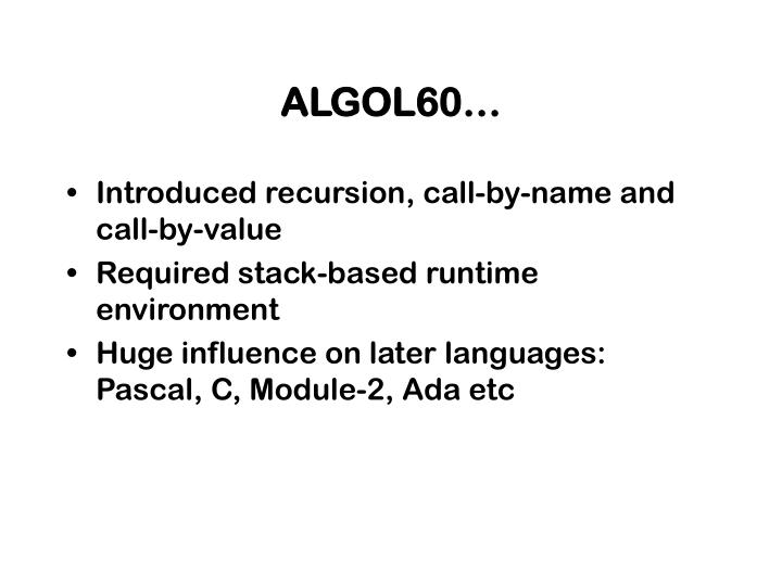 ALGOL60…