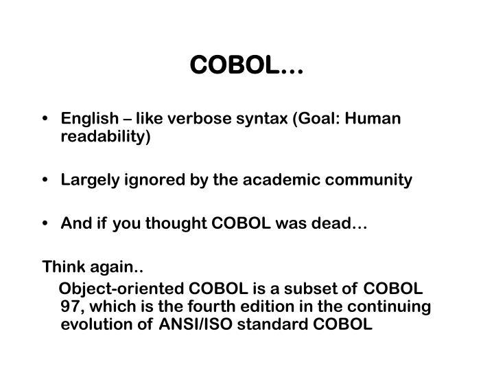 COBOL…