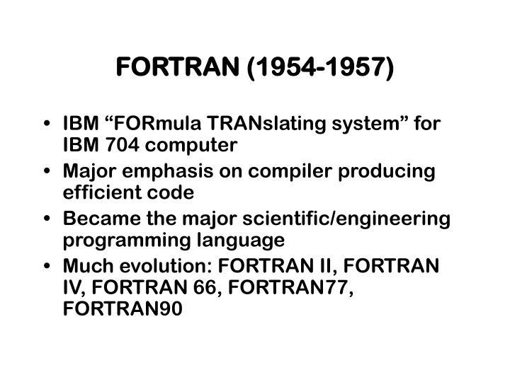 FORTRAN (1954-1957)