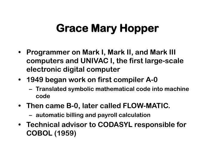Grace Mary Hopper