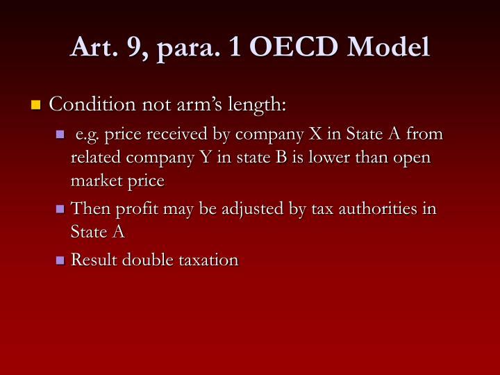 Art. 9, para. 1 OECD Model
