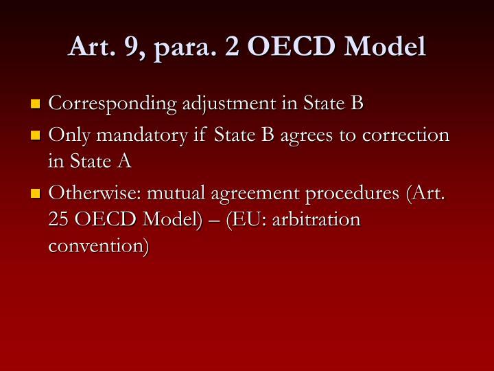 Art. 9, para. 2 OECD Model