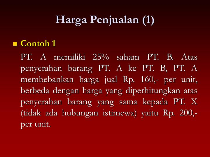 Harga Penjualan (1)
