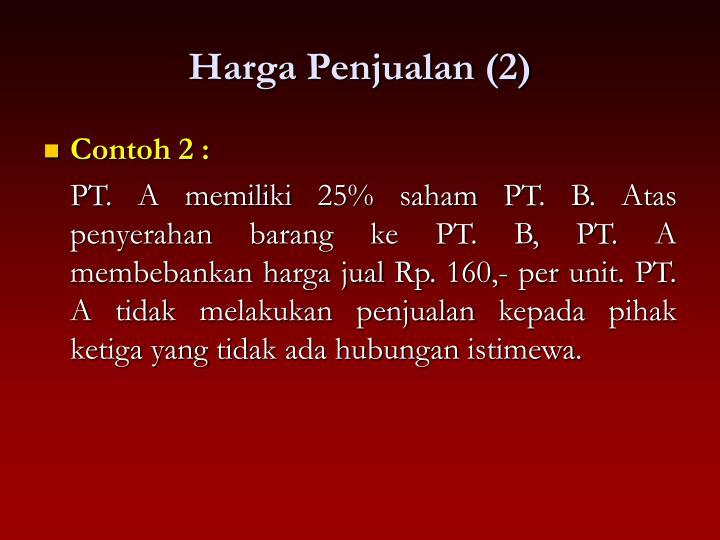 Harga Penjualan (2)
