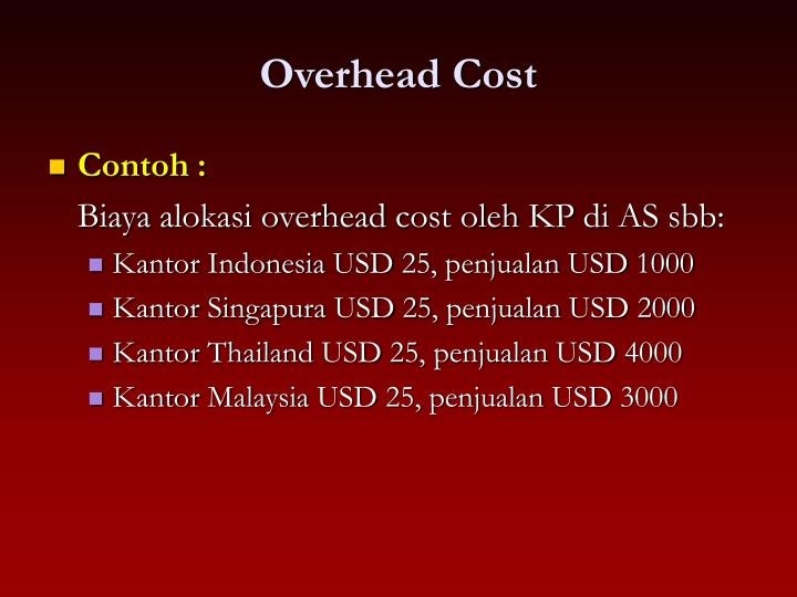 Overhead Cost