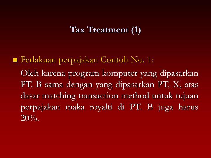 Tax Treatment (1)