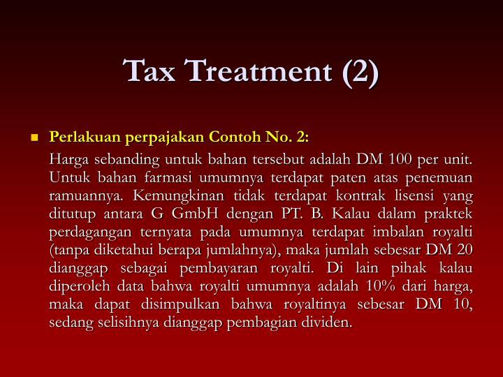 Tax Treatment (2)