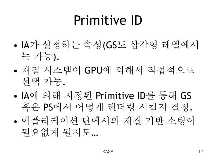 Primitive ID