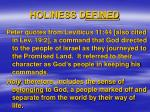 holiness d efined2