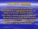 holiness d esired1