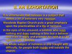 ii an exhortation