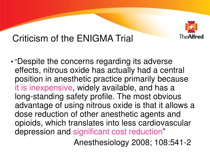 Criticism of the ENIGMA Trial
