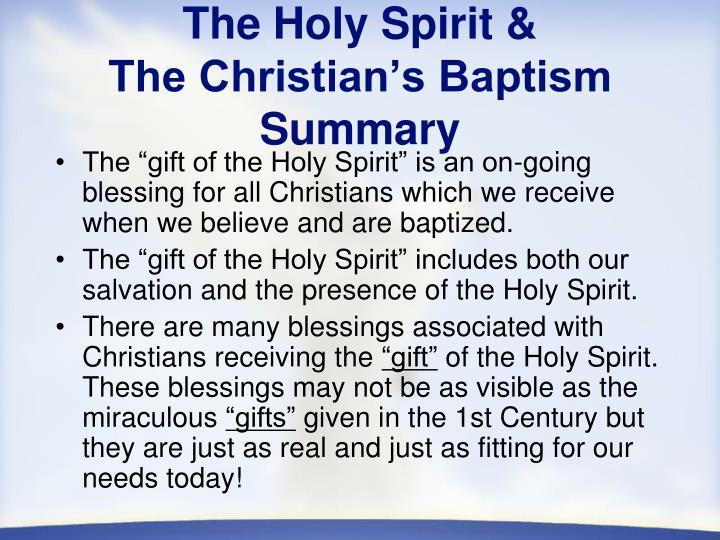 The Holy Spirit &