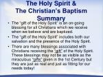 the holy spirit the christian s baptism summary
