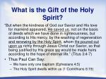 what is the gift of the holy spirit2