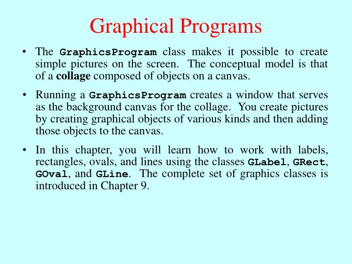 Graphical Programs
