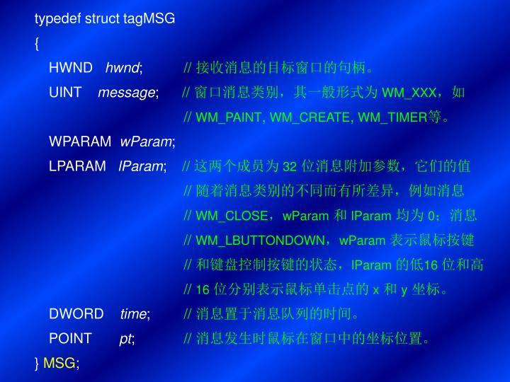 typedef struct tagMSG