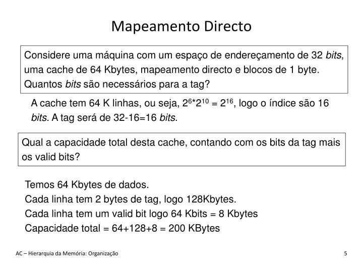 Mapeamento Directo