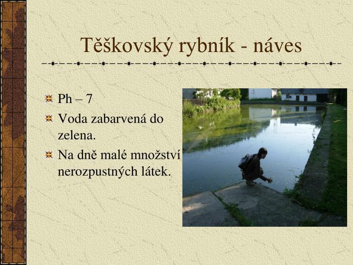 Těškovský rybník - náves