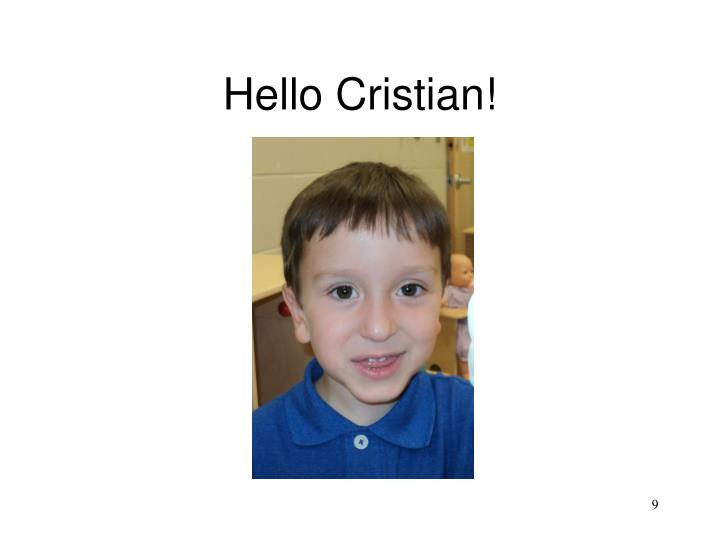 Hello Cristian!
