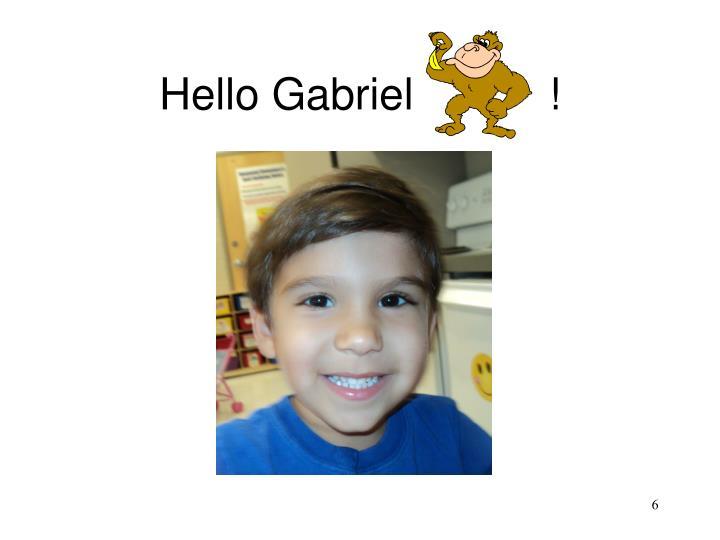 Hello Gabriel           !