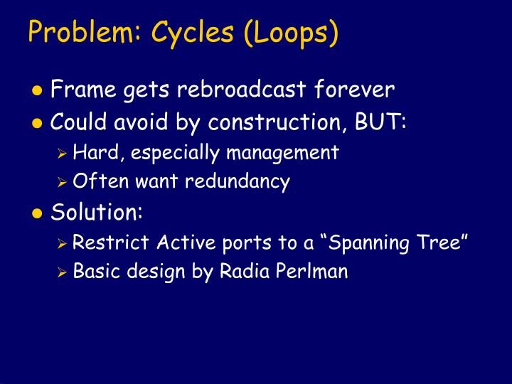 Problem: Cycles (Loops)
