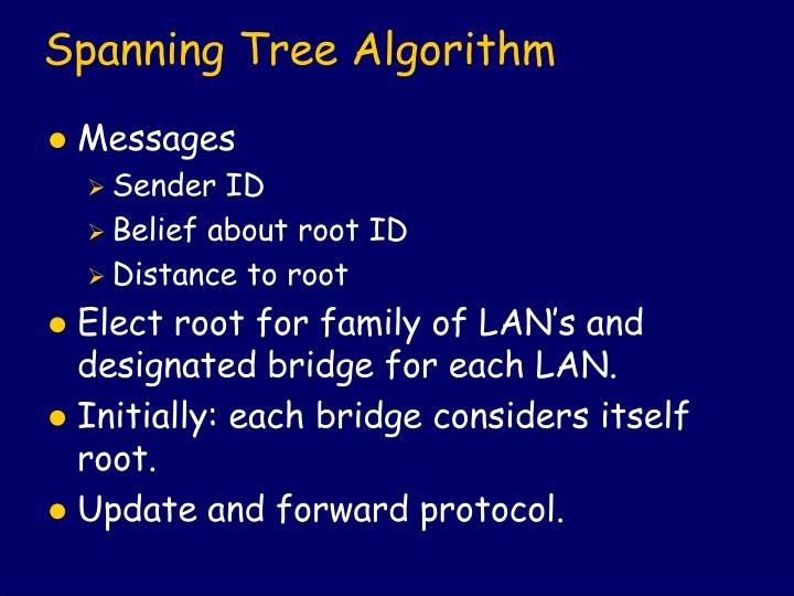 Spanning Tree Algorithm
