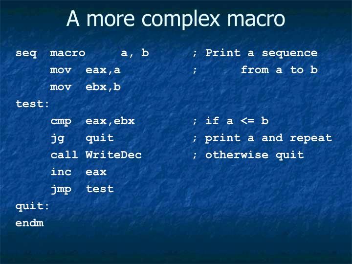 A more complex macro