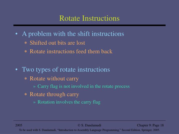 Rotate Instructions