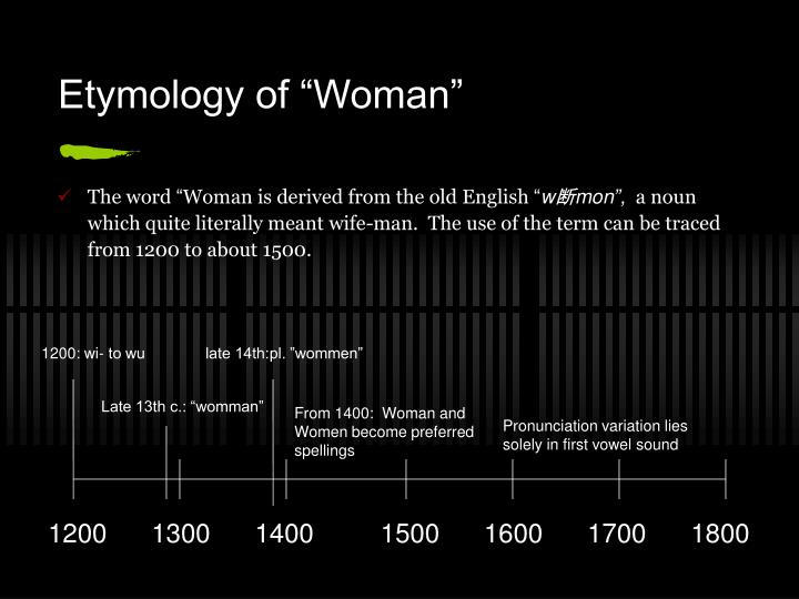 "Etymology of ""Woman"""