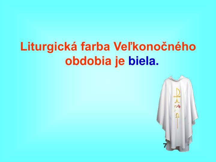 Liturgická farba Veľkonočného