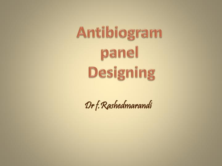 Antibiogram