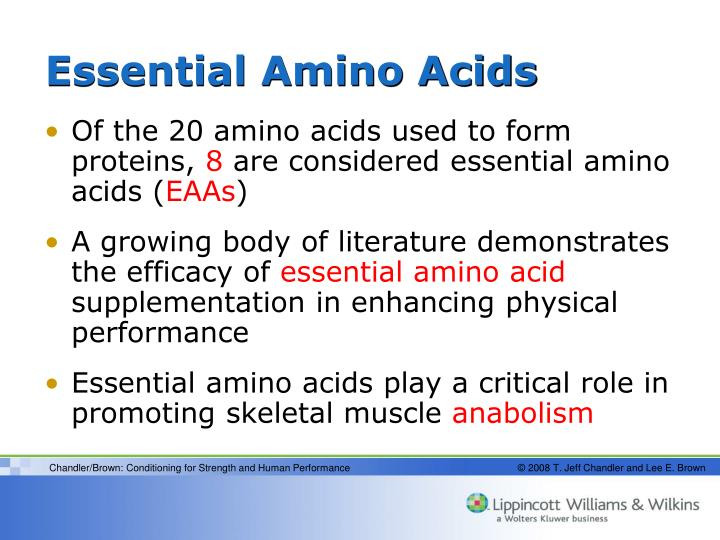 the effect of the essential amino The other nine amino acids are called essential and must be obtained from food protein-energy under-nutrition protein-energy under-nutrition is a form of malnutrition in which you fail to obtain enough dietary protein for an extended period, leading to a shortage of amino acids in your cells.