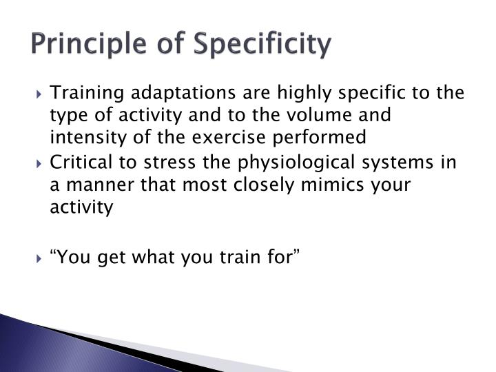 Principle of Specificity