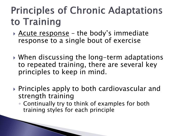 Principles of Chronic Adaptations to Training