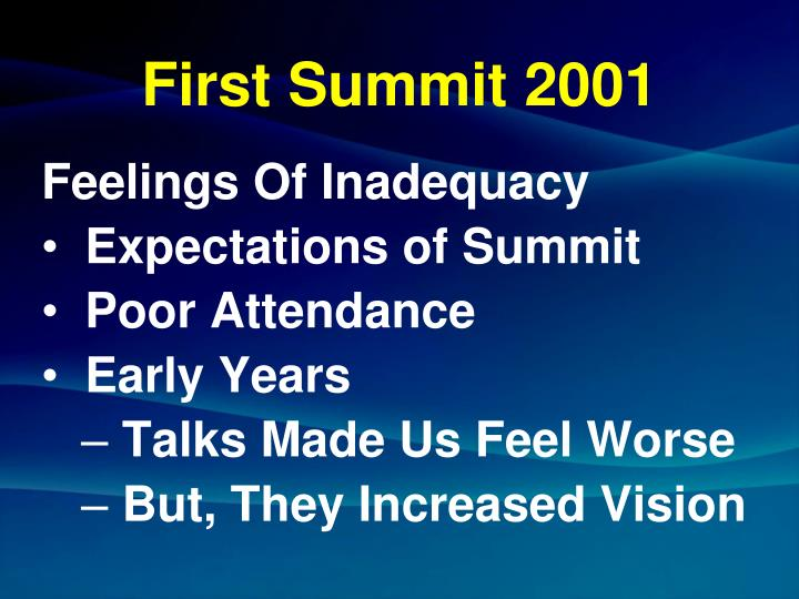 First summit 2001