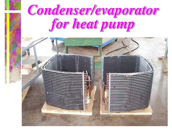 Condenser/evaporator for heat pump
