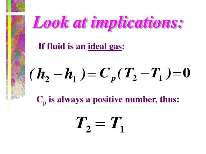 Look at implications: